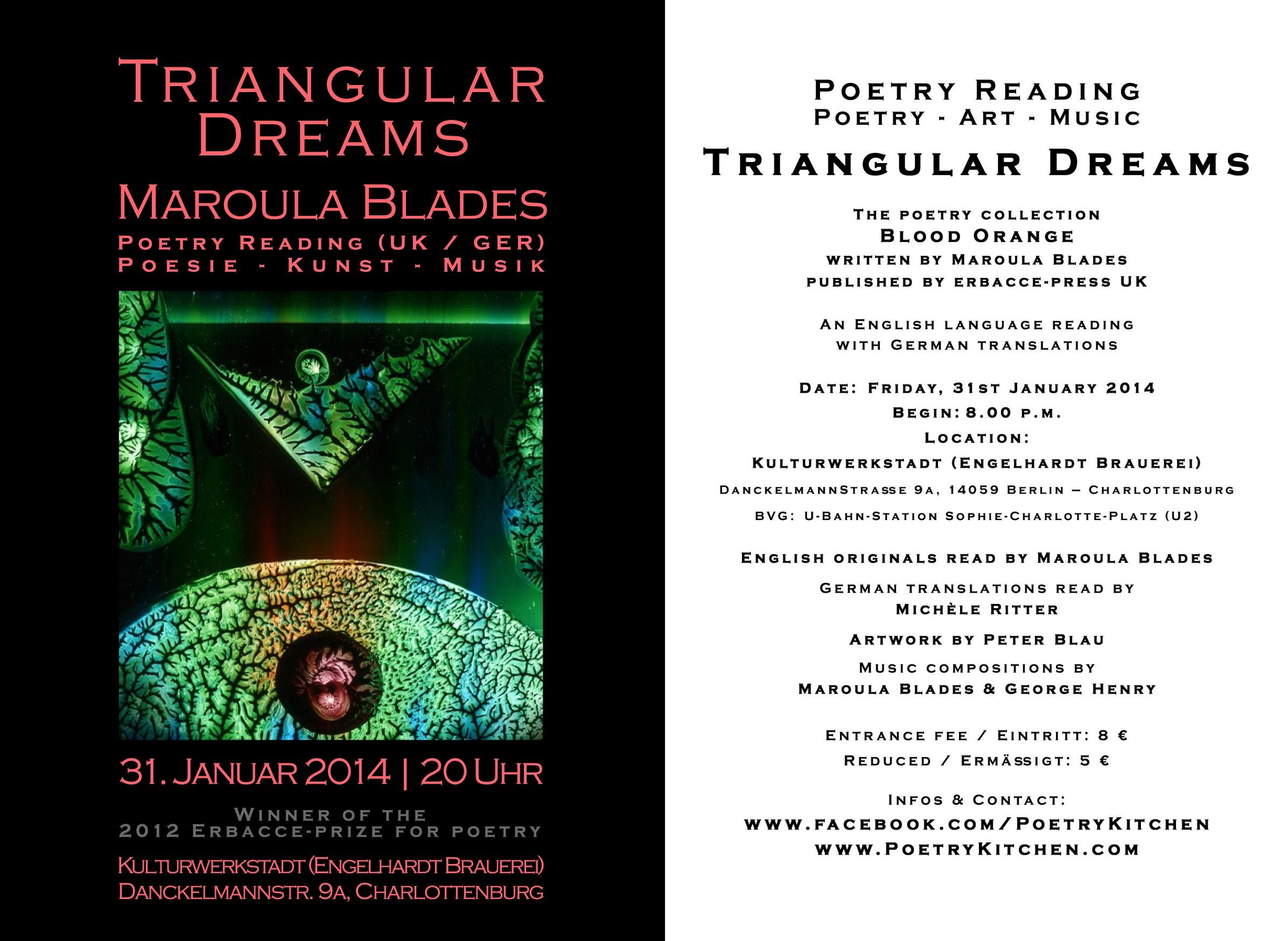 email flyer - Maroula Blades - TRIANGULAR DREAMS