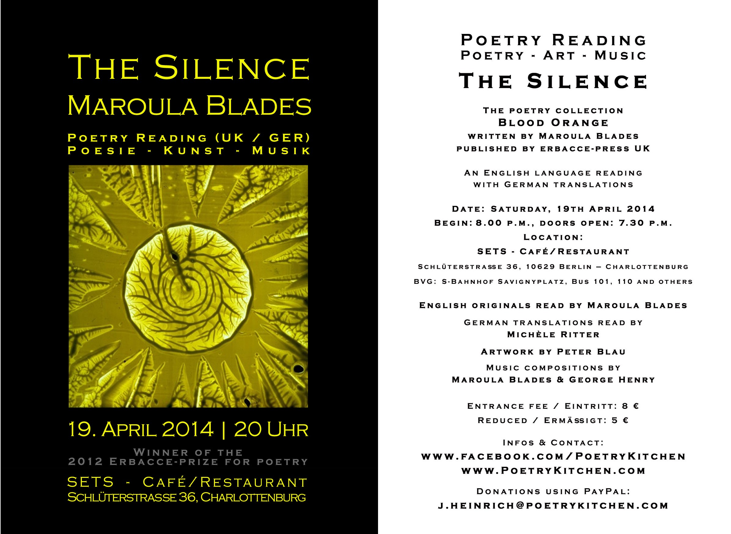 email flyer - Maroula Blades - The Silence