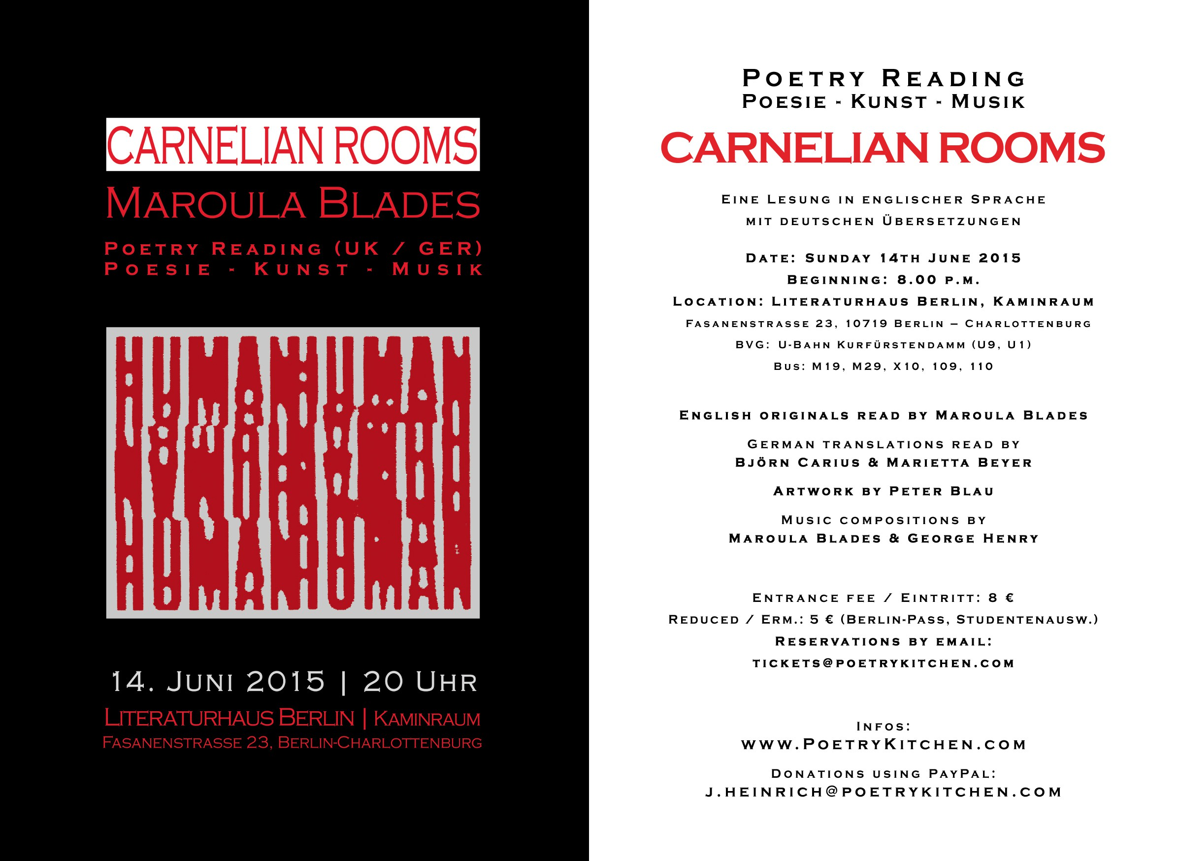 email flyer - Maroula Blades - CARNELIAN ROOMS