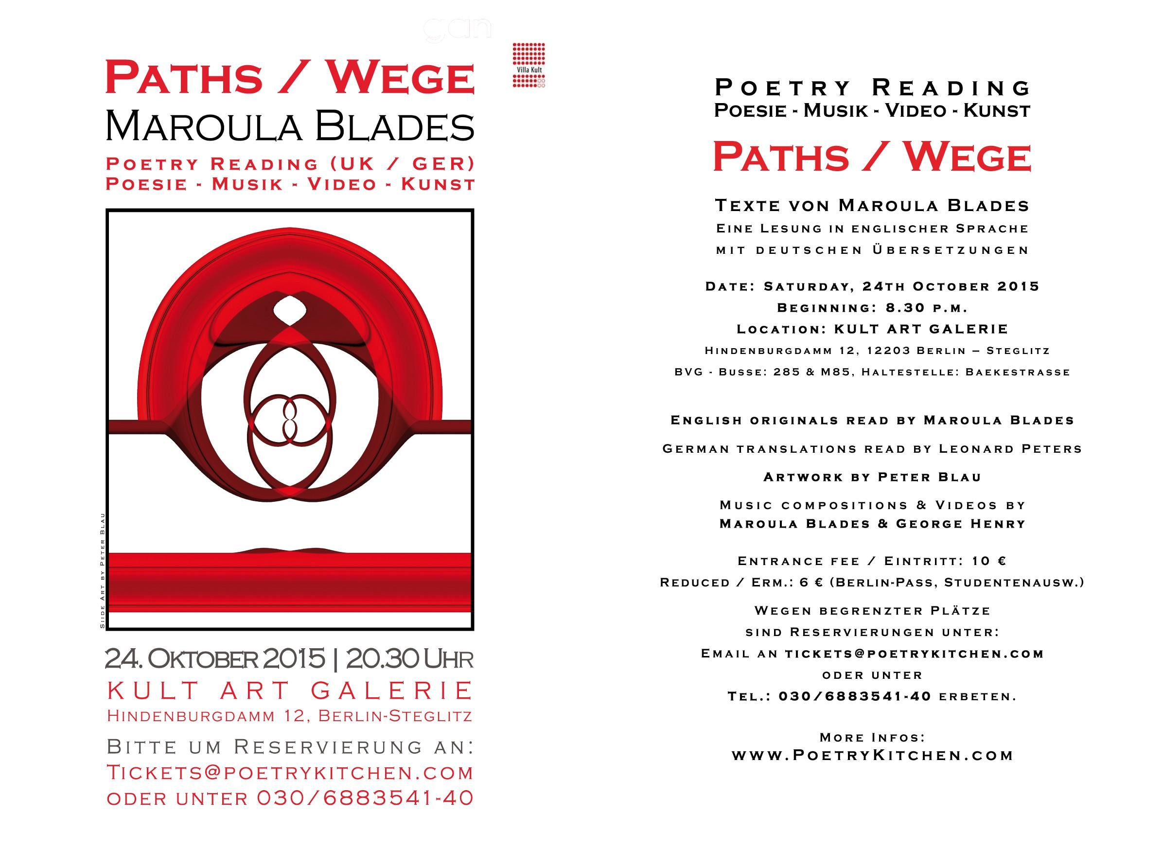 email flyer - Maroula Blades - PATHS / WEGE