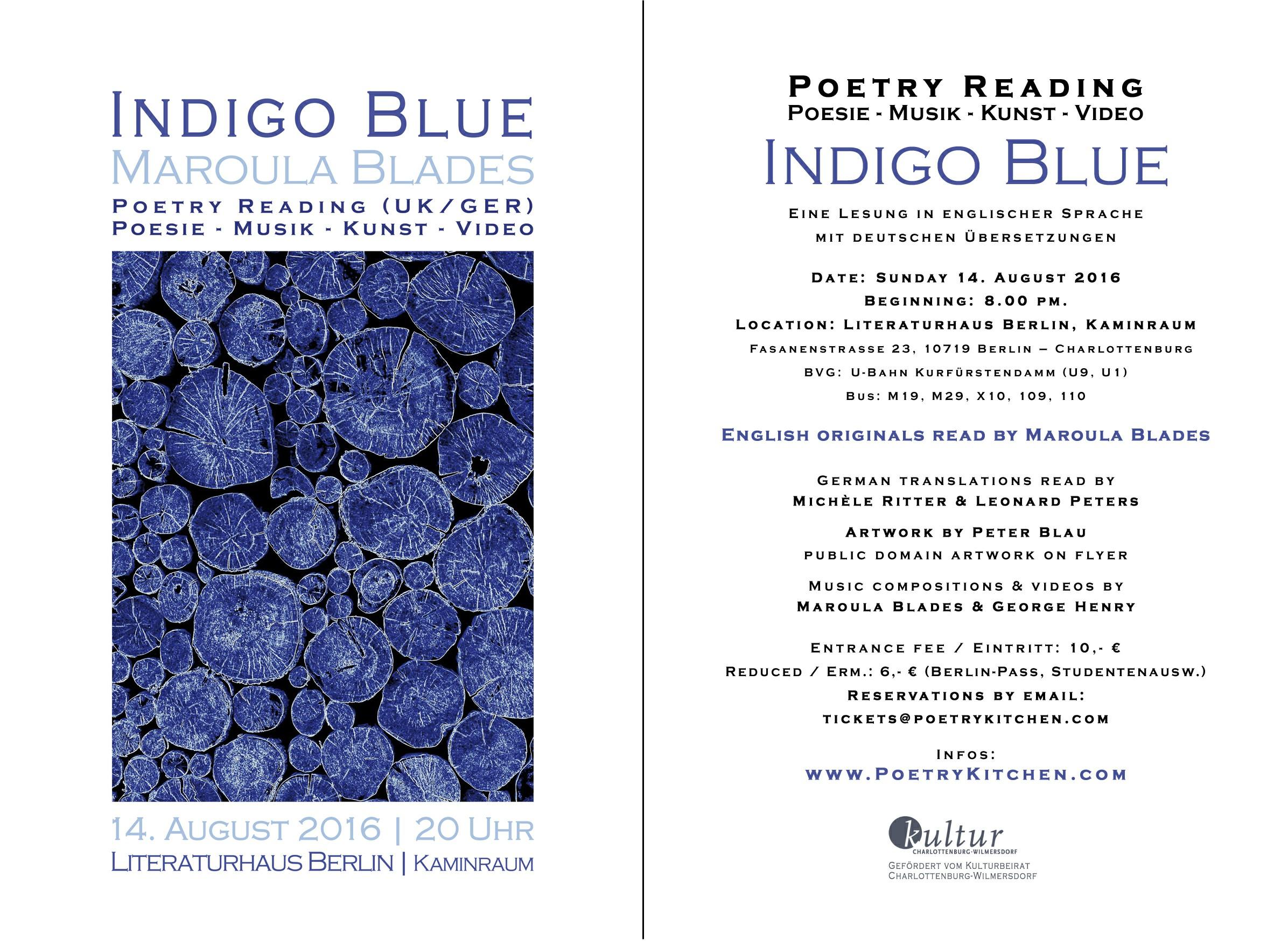 email flyer - Maroula Blades - INDIGO BLUE