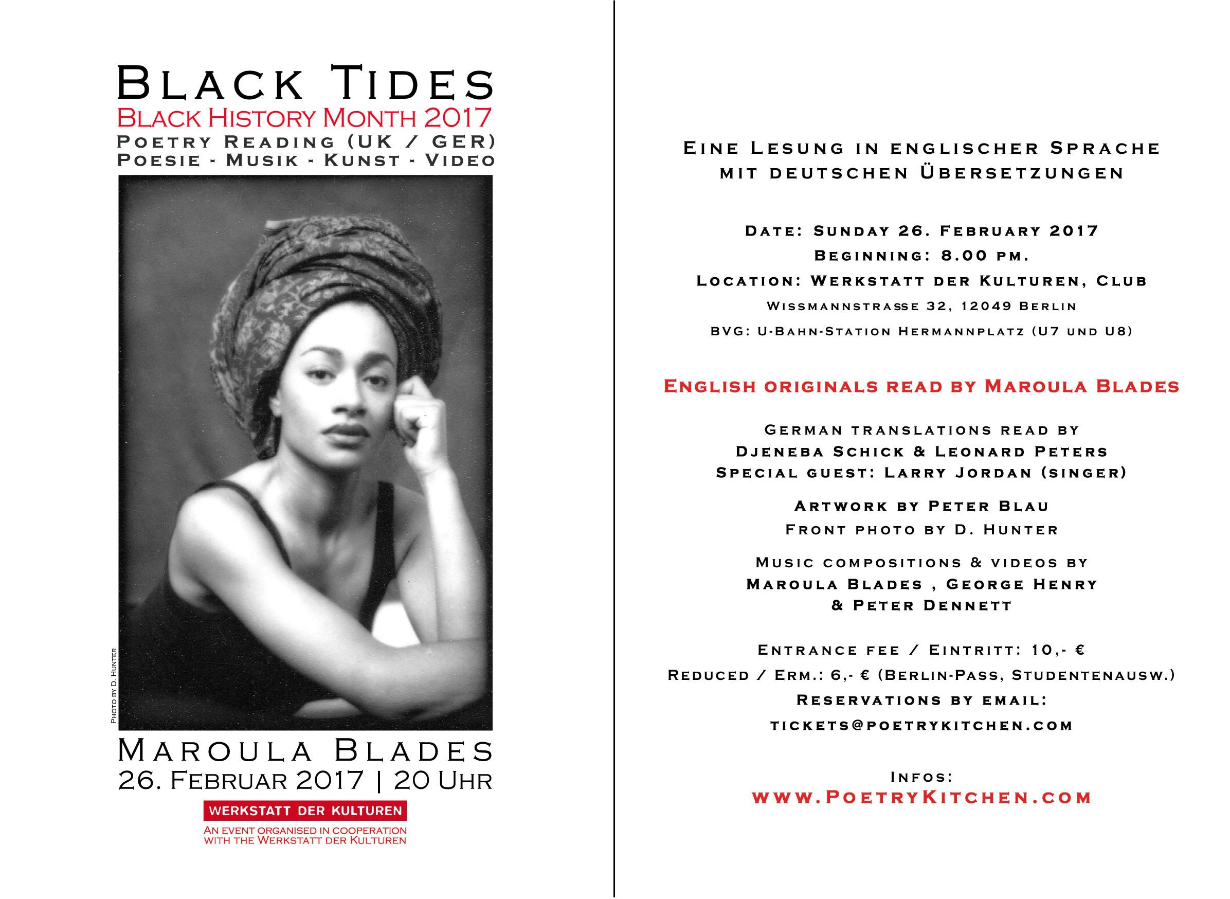 email flyer - Maroula Blades - Black Tides