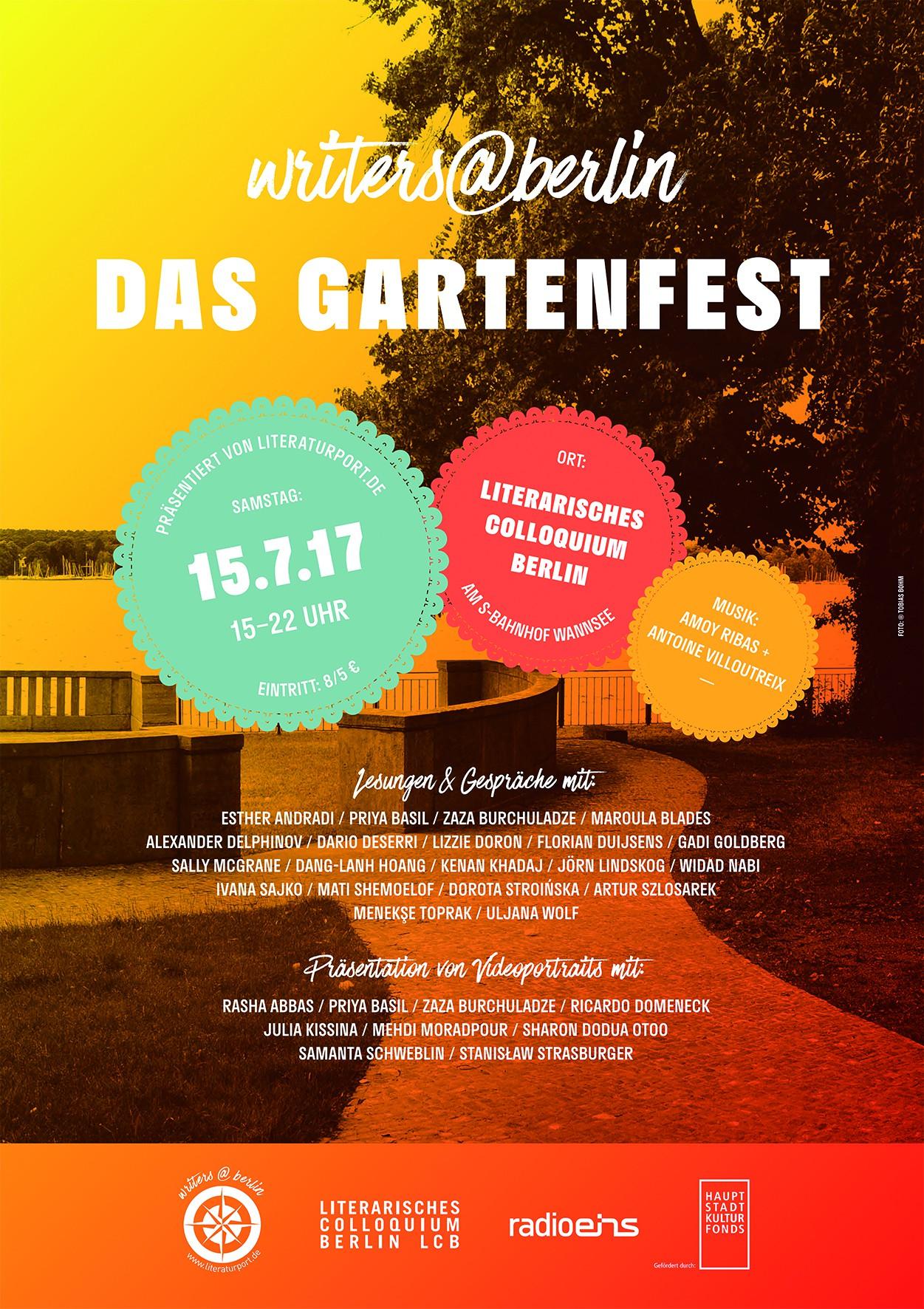 DAS GARTENFEST von writers@berlin, Literarisches Colloquium Berlin