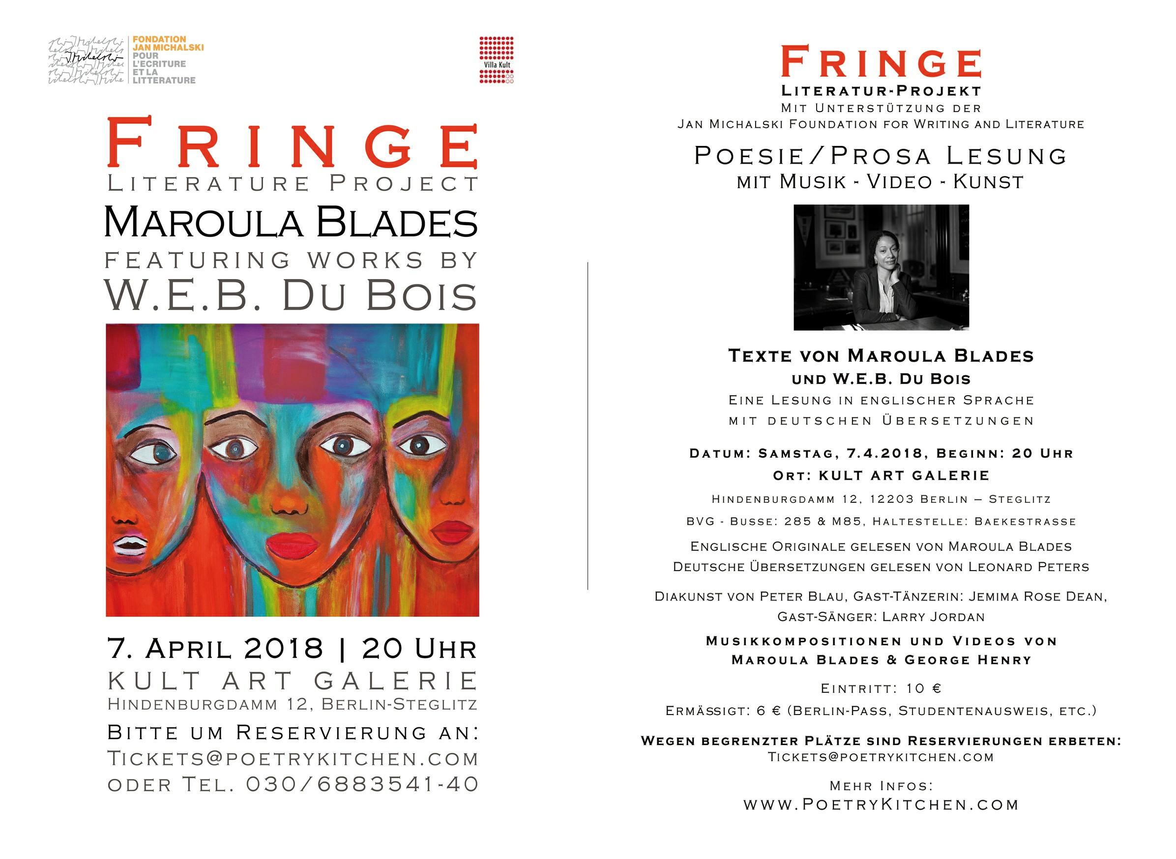 email flyer - Maroula Blades - FRINGE