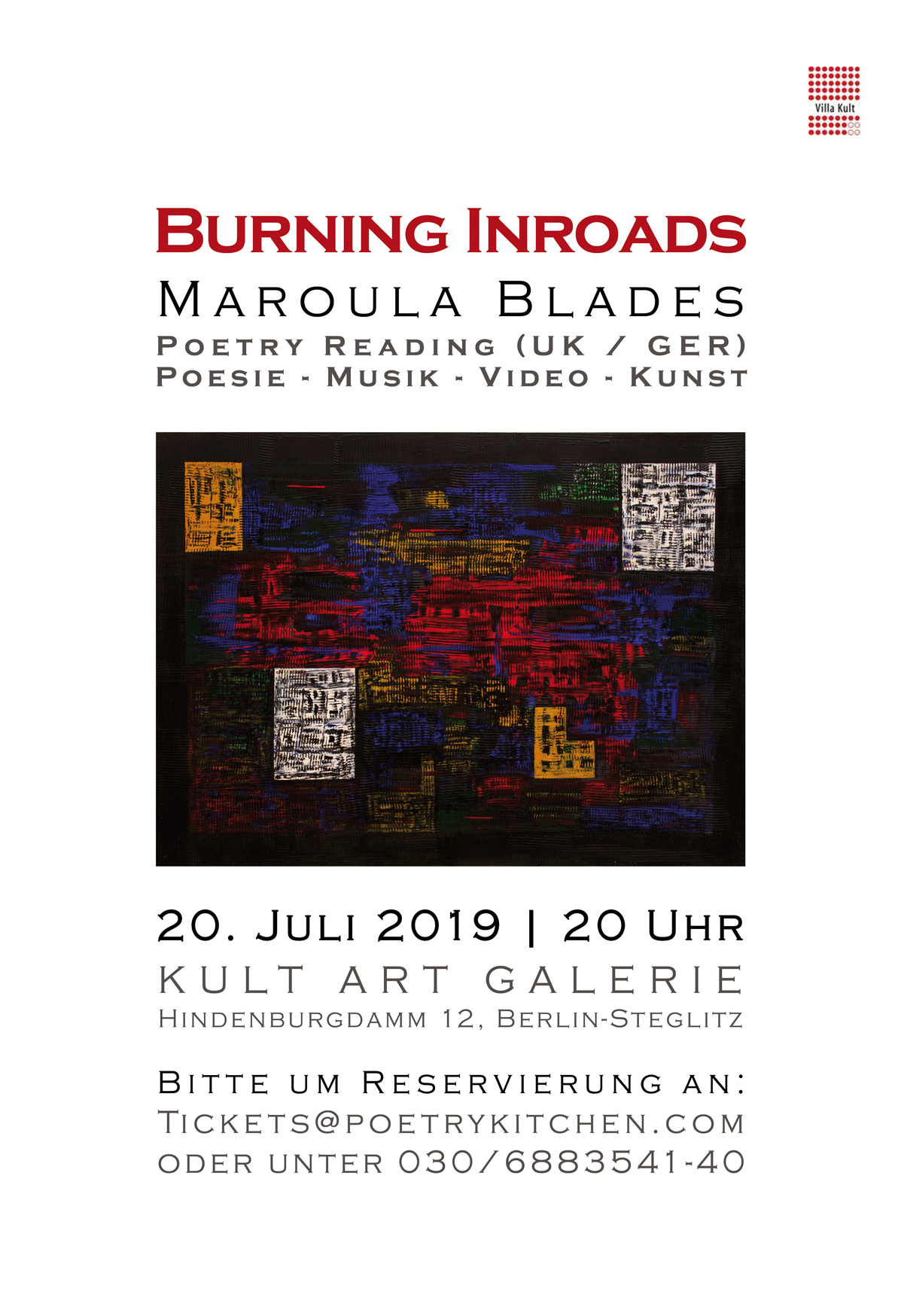 email flyer - Maroula Blades - BURNING INROADS